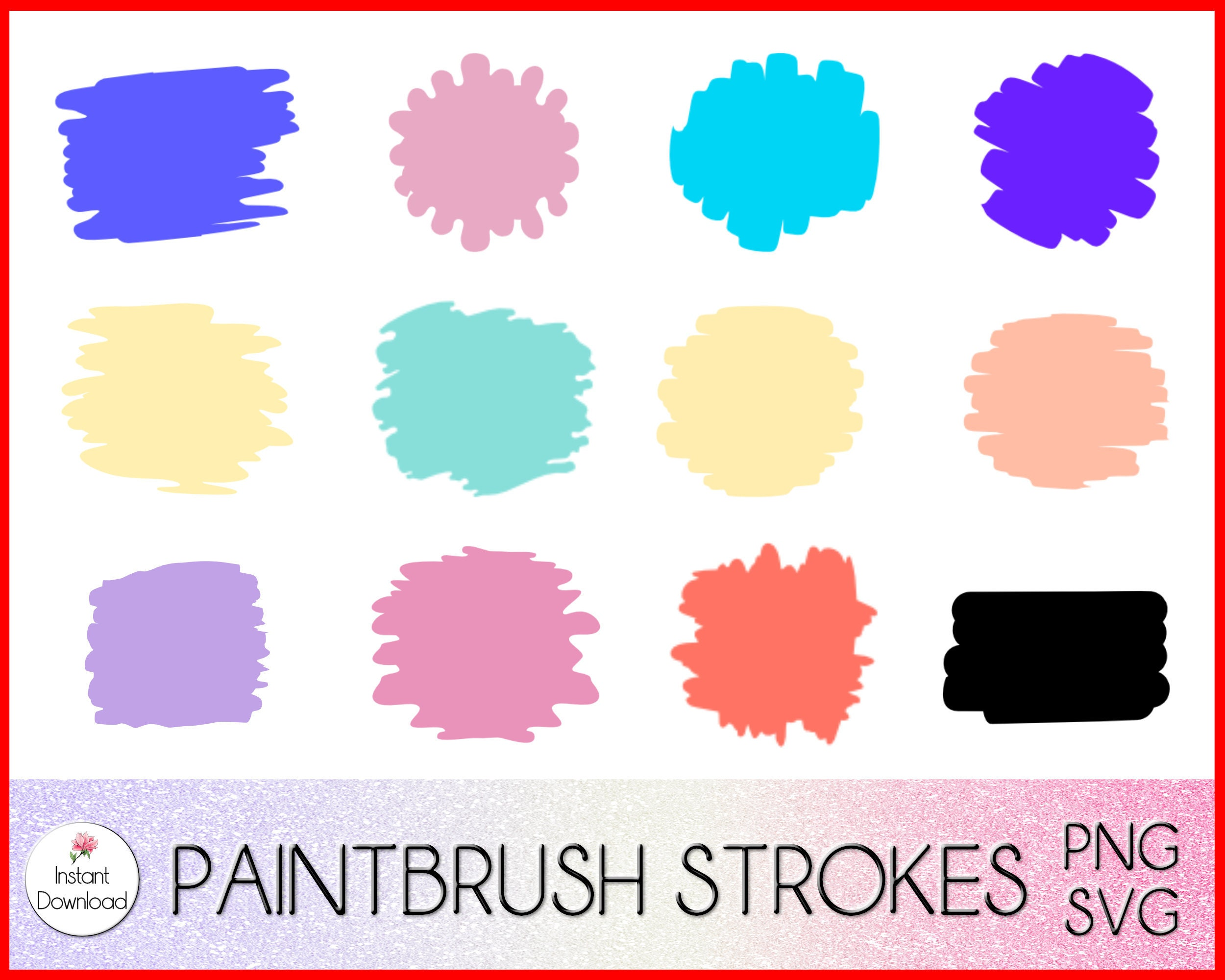 Round Paint Brush Stroke Svg Keychain Svg – 338+ Crafter Files