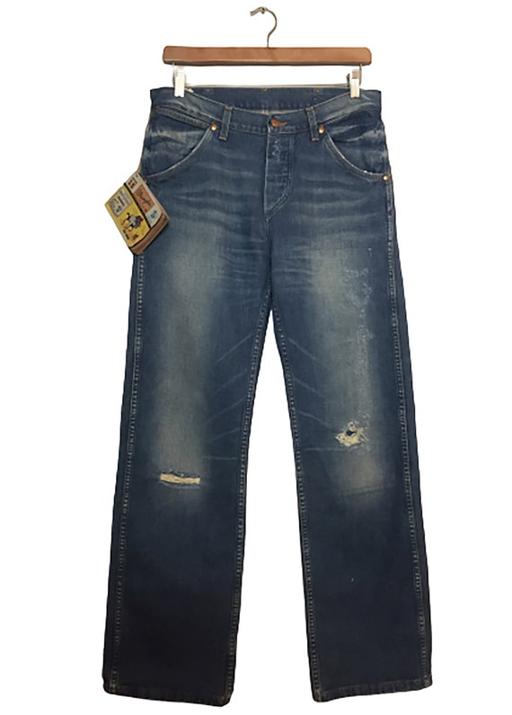 RARE Wrangler Blue Bell Rodeo Jeans 11MW - Calf Ro