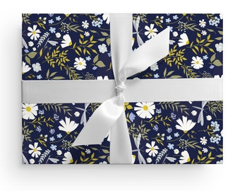Set of 3 You/'re Resilient Daisy Wrapping Paper Sheets