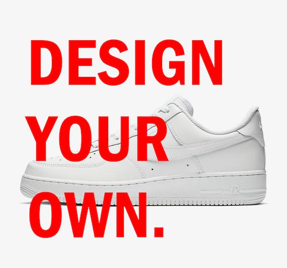 Custom Nike Air Force 1's Design Your
