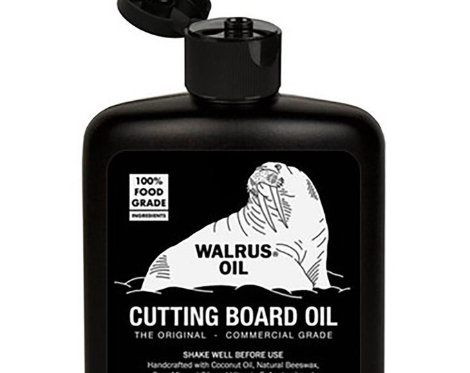 WALRUS OIL - Cutting Board Oil and Wood Butcher Block Oil, 8 oz Bottle, FDA Food-Safe