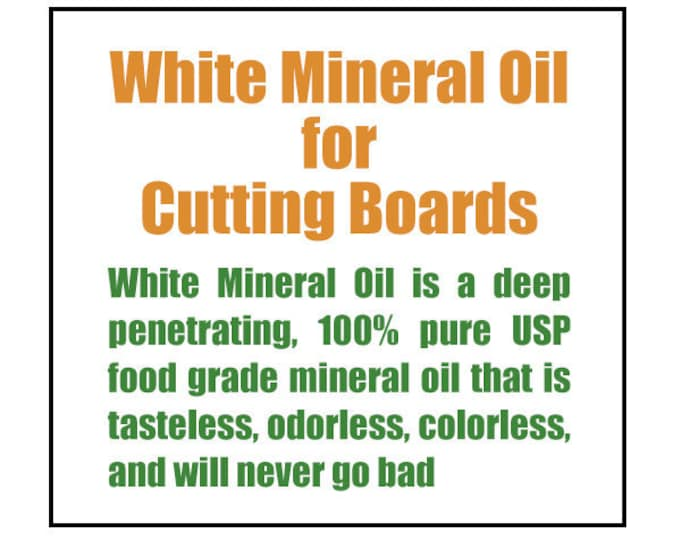 White Mineral Oil for Cutting Boards
