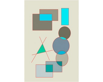 SUPREMUS 2021.January.26 - abstract digital painting - 10 cm x 15 cm with passepartout 18 cm x 24 cm | Drawing, Collector's Item