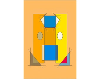 SUPREMUS 2021.January.28 - abstract digital painting - 10 cm x 15 cm with passepartout 18 cm x 24 cm | Drawing, Collector's Item