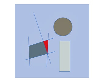 SUPREMUS 2021.January.31 - abstract digital painting - 10 cm x 10 cm with passepartout 15 cm x 15 cm | Drawing, Collector's Item