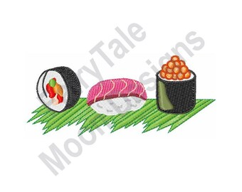 FISH Inktober Linocut Mini Sushi Tuna Roll 3x4 inch mini linocut relief print A portion of each sale goes to Creek Fire Recovery Efforts