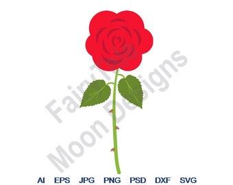 Clipart Png Valentines SVG Jpg Flower SVG Love SVG Red Rose Eps Vector Art Cut File Svg Dxf