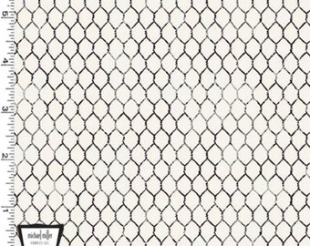 Chicken Wire Cream - Life is Better on the Farm - Fabric by the Yard - Michael Miller Fabrics - CX9966-CREM-D