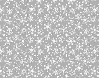 Snowfall Grey - Fa La La - 100% Cotton - Retro Christmas - Maude Asbury for Free Spirit Fabrics - PWMA016.XGREY