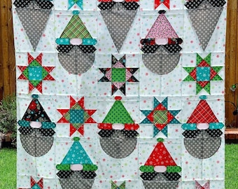 Gnome Fest Quilt KIT - Pattern by Charisma Horton - Christmas Quilt