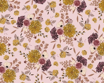 Main Floral Pink Sonnet Dusk - Floral - 100% Cotton - Riley Blake Designs - Fabric By The Yard - C11290-PINK