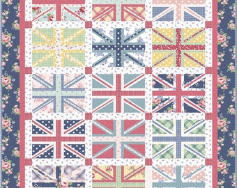 Regent Street Union Jacks Quilt KIT -  Fabric from Amy Smart for Riley Blake Designs - Includes Pattern by Amy Smart of Diary of a Quilter
