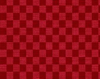 Holiday Check Red - Postcard Holiday - 100% Cotton - P&B Textiles - Christmas fabric - POHO 4443 R