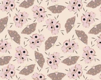 Moths Blush Sonnet Dusk - Floral - 100% Cotton - Riley Blake Designs - Fabric By The Yard - C11292-BLUSH