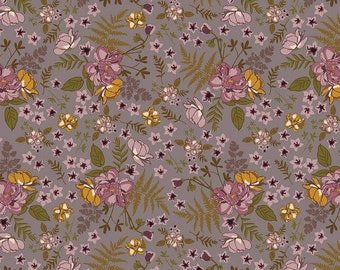 Roses Taupe Sonnet Dusk - Floral - 100% Cotton - Riley Blake Designs - Fabric By The Yard - C11291-TAUPE