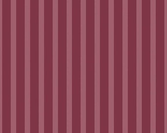 Stripes Rose Sonnet Dusk - Floral - 100% Cotton - Riley Blake Designs - Fabric By The Yard - C11295-ROSE