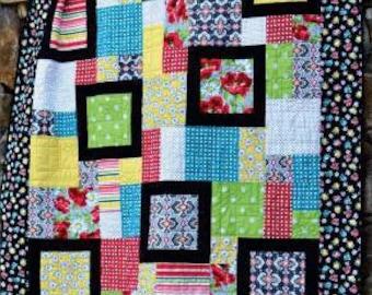 Perfect Ten Quilt Pattern - Paper Pattern - Swirly Girls Designs - Fat Quarter Quilt Pattern