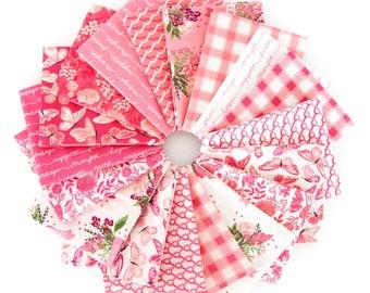 Hope in Bloom Fat Quarter Bundle - 18 FQ - Breast Cancer - Pink Ribbon - Riley Blake Designs