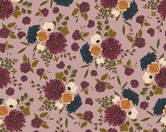 Main Floral Rose Sonnet Dusk - Floral - 100% Cotton - Riley Blake Designs - Fabric By The Yard - C11290-ROSE