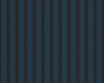 Stripes Teal Sonnet Dusk - Floral - 100% Cotton - Riley Blake Designs - Fabric By The Yard - C11295-TEAL