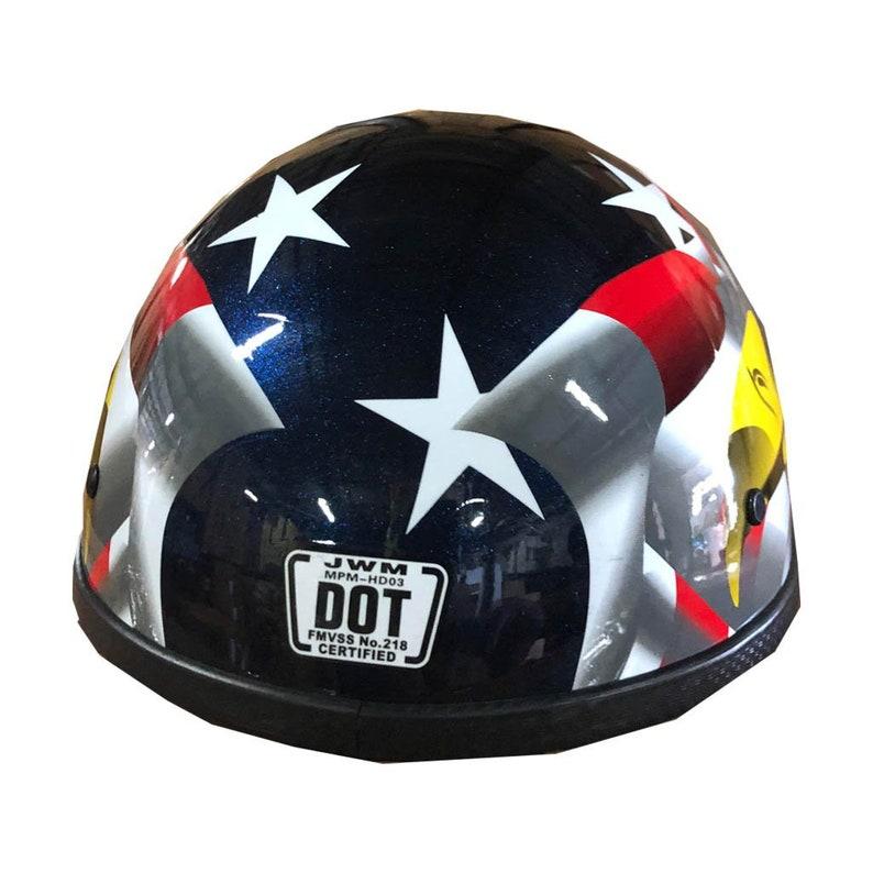 American Eagle Flag Patriotic Motorcycle Half Helmet