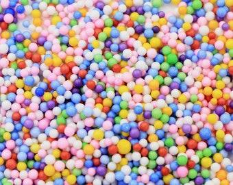 Foam Beads For Crafting - Multicolored Floam Beads - Styrofoam Beads - Slime - Slime Foam - Colored Slime Floam Beads - 15 Gram Bag of Foam