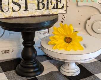Farmhouse Riser Stand, Distressed Wooden Riser, Decorative Tray, Farmhouse Table Décor, Footed Tray, Mini Riser, Candlestick Base