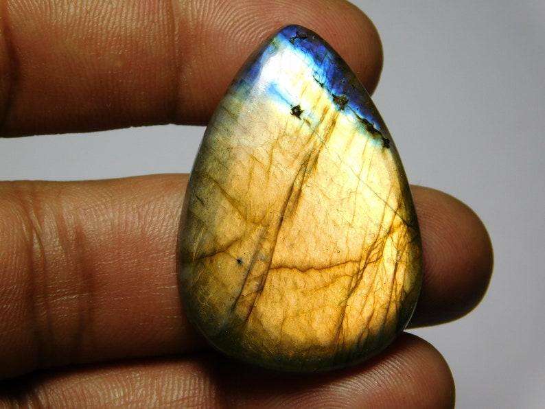 39X28 Natural Labradorite gemstone,cabochon,handmade Labradorite good quality and beautiful design cabochon 59Cts MM.