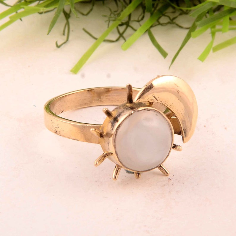 Natural Rose Quartz Ring,Beautiful Gold Gemstone Ring,Engagement Ring,Rose Quartz Jewelry Stone Shape Round Design Ring,Promise Ring