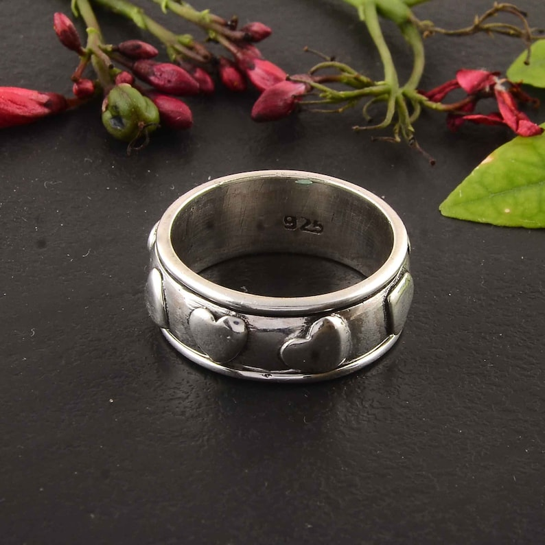 gift ring birthday gift ring, boho ring lovers ring,,Statement ring,Handmade jewelry,Ring for women ring anniversary ring Silver ring