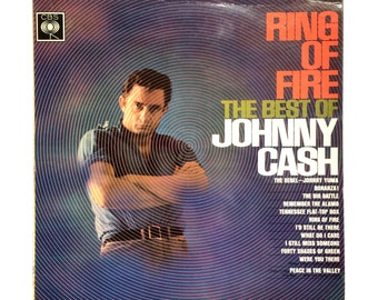 """Johnny Cash - Ring Of Fire (The Best Of Johnny Cash) - 12"""" Vinyl Record LP - 1963"""