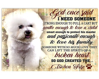 Poster A3 picture BICHON FRISE gift