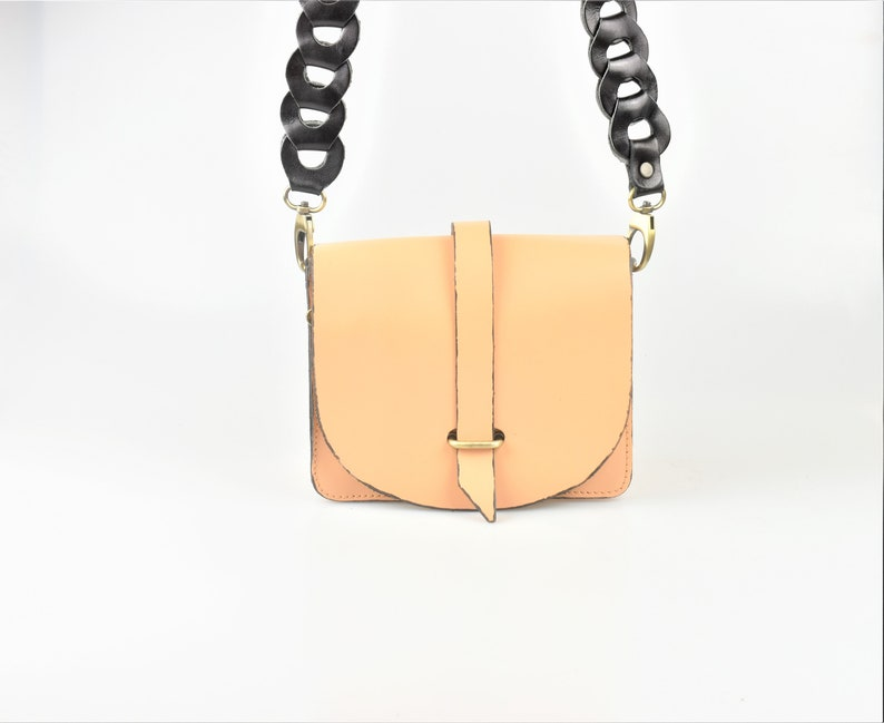 Crossbody Leather Bag From Genuine Leather Beige Leather Bag For Ladies Handmade Leather Bag Leather Shoulder Bag For Women