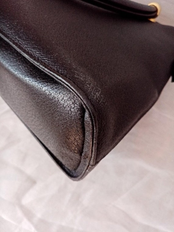 Valentino bag, Valentino black bag, Valentino lea… - image 9