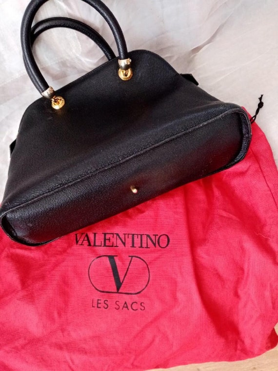 Valentino bag, Valentino black bag, Valentino lea… - image 1