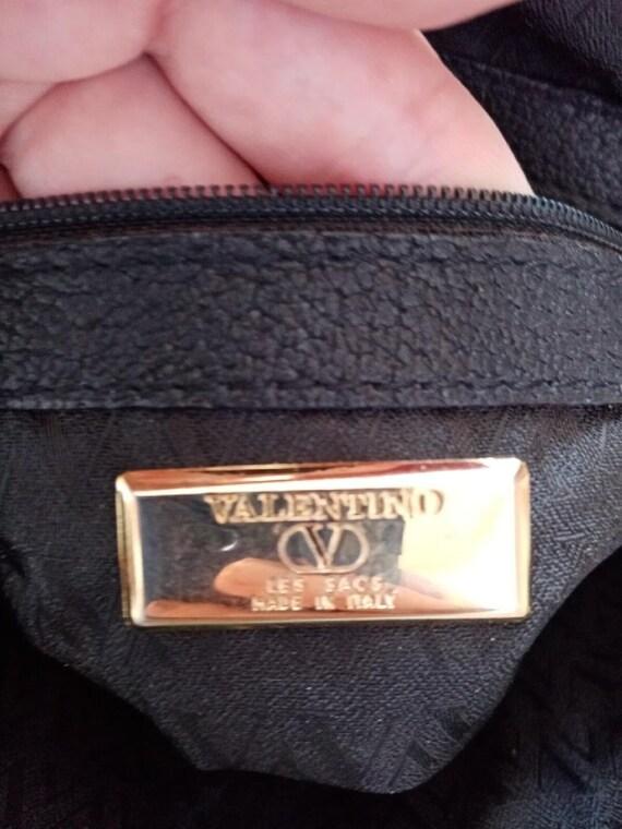 Valentino bag, Valentino black bag, Valentino lea… - image 8