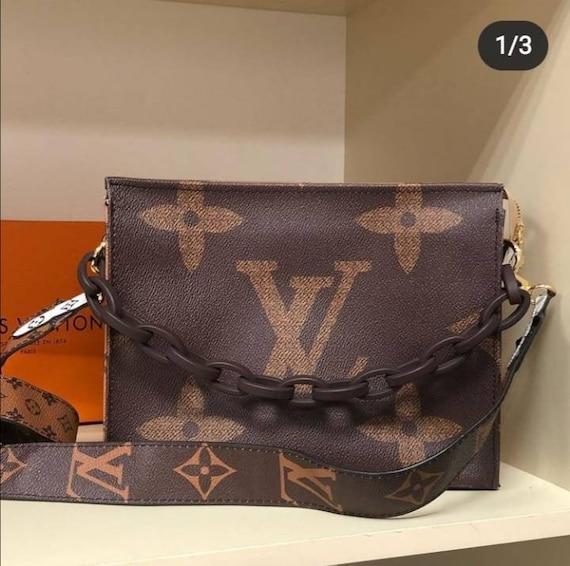 crossbody LV style Bag, Genuine Leather LV Bag, Lu
