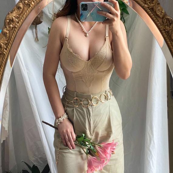 Vintage lace corset/ bustier | size 8-10