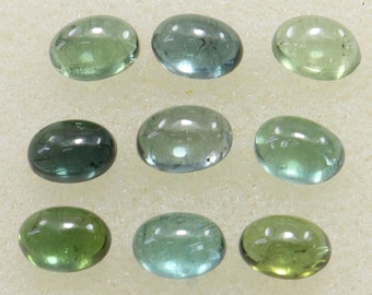 E7270 Natural Tourmaline gemstone,Green Tourmaline cabochons,loose gemstone,Tourmaline cabochon,41 pieces,4x5-6x11 mm,50 ct.Approx