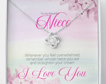 Gift for Niece, Aunt Gift to Niece, Niece and Aunt Gift, Niece Gift from Aunt and Uncle, To My Beautiful Niece Necklace