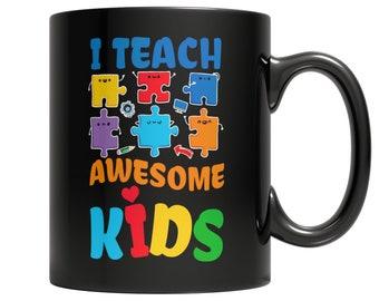 I Teach Awesome Kids Autism Awareness, Teacher Gift, Autism Teacher Gift, Autism awareness Teacher Gift, Teacher Appreciation Gift Mug 11oz