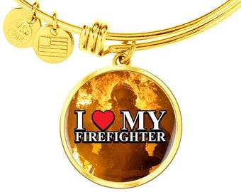 Gift for Women FireFighter, Firefighter's Gift, I Love My Firefighter
