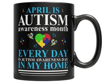 Autism Awareness Coffee Mug, Mom and Son Autism Awareness Mug,Autism Awareness Inspirational Message Coffee Mug 110z
