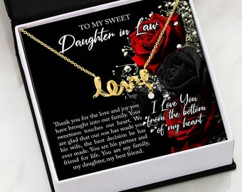 To My Sweet Daughter In Law