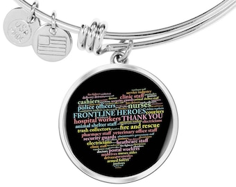 Gift for Frontline Hero, Thank You Gift for Healthcare Worker,Thank You essential Worker Gift- Steel