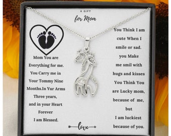 New Moms Gift, Mother's Gift from Baby, New Mommy Necklace, Baby to Mom Gift, First Time mom Gift, Baby Shower Gift, Baby to Mommy Necklace