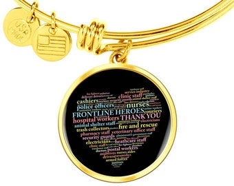 Gift for Frontline Hero, Thank You Gift for Healthcare Worker,Thank You essential Worker Gift- Gold