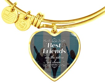 Gift for BFF, Best Friends are the Sister Bracelet with Heart Charm, Sister's Gift, Soul Sister's Gift, Gift from Best Friend