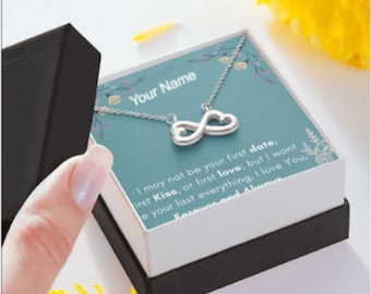 Valentine's Day Gift for Her, Valentine's day gift for Wife Infinity Heart Necklace