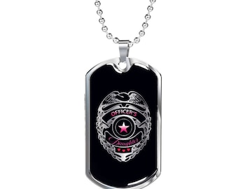 Officer's Daughter  Stainless Dog Tag